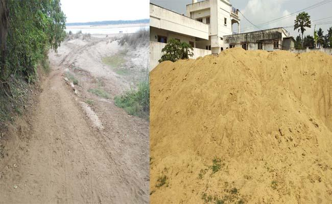 Sandy Smuggling Is Going On With Cooperation From TDP Leaders - Sakshi