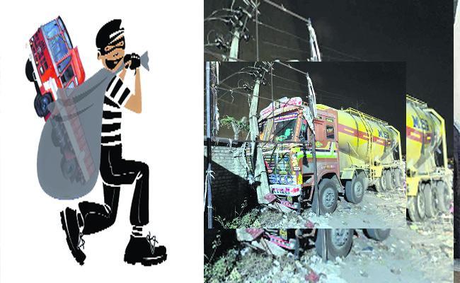 Lorry Theft  Gang Arrested Khammam - Sakshi