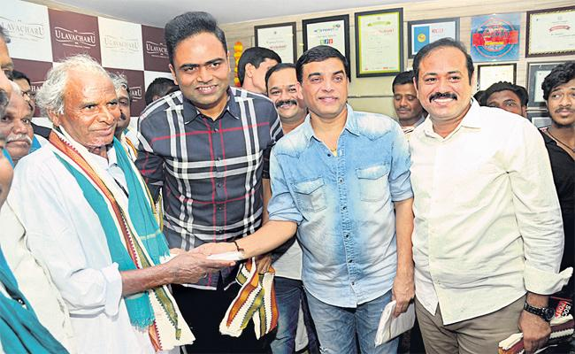 Dil Raju Honored Farmers in Hyderabad - Sakshi