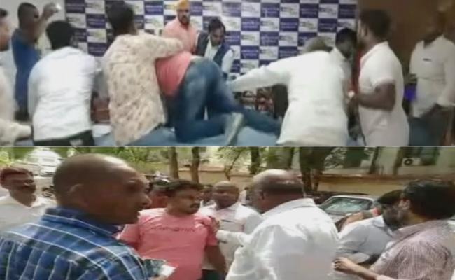 Swaeroes Members Attacks On SC ST Parirakshana Samithi Leader - Sakshi