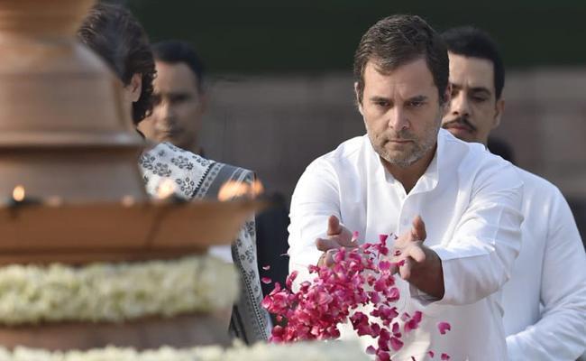 Rahul Gandhi Tribute To Rajiv Gandhi - Sakshi