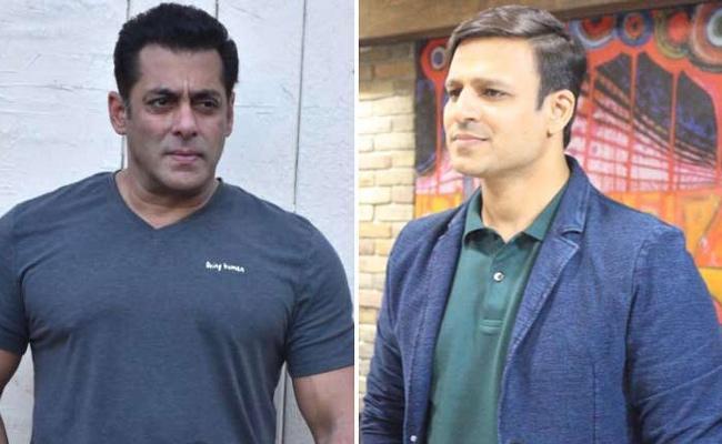 Salman Khan Reacts to Vivek Oberoi Controversial Tweet - Sakshi
