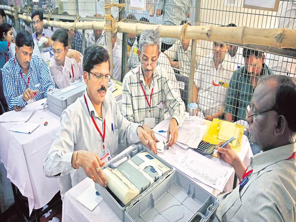 Counting of votes in 36 places across the state - Sakshi