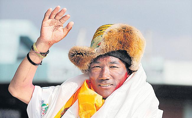 Sherpa climbs Mount Everest 23 times breaking his own record - Sakshi