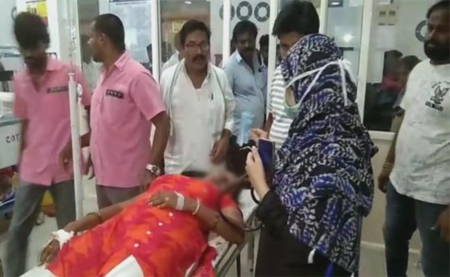 Bride Attempts To Suicide In Khammam - Sakshi