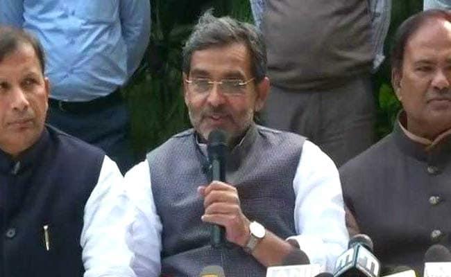 Upendra Kushwaha Warns NDA Over Loot Votes Blood Will Flow - Sakshi
