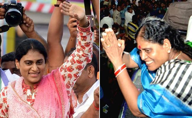 YS Vijayamma YS Sharmila Plays Key Role In YSRCP Mass Voctory - Sakshi