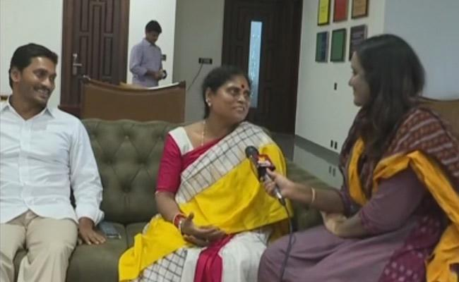 YS Vijayamma Reaction on after AP Election Results 2019 - Sakshi