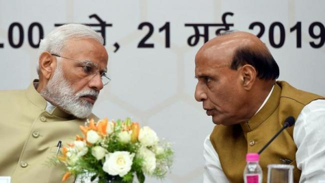 Rajnath Singh Said Narendra Modi will now build New India - Sakshi