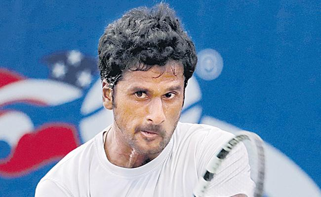Saket Myneni enter to quarter finals - Sakshi