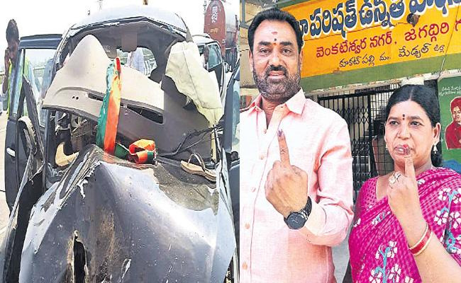 BJP Media Convener Died in Road Accident - Sakshi