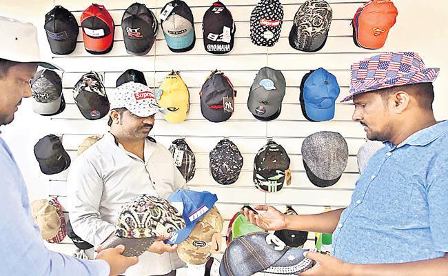 Caps Business in Summer Season  - Sakshi
