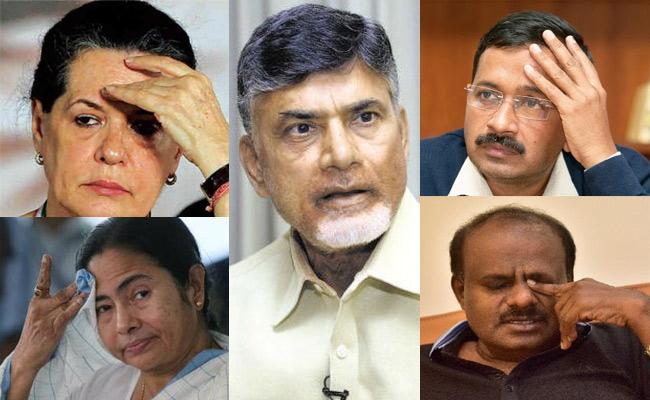 Social Media Satires On Chandrababu Naidu Over National Politics - Sakshi