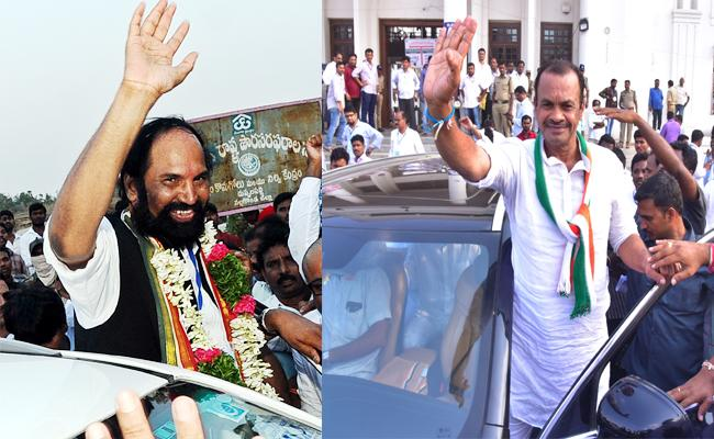 Komatireddy And Uttam Kumar Reddy Won in nalgonda Bhuvanagiri - Sakshi