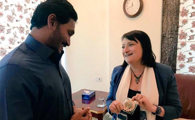 US Consulate Katherine Hadda Congratulates To YS Jagan - Sakshi