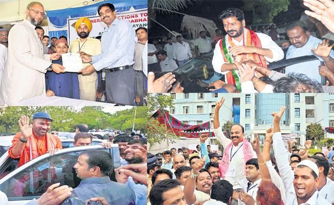 Four Different Parties Win in Hyderabad - Sakshi