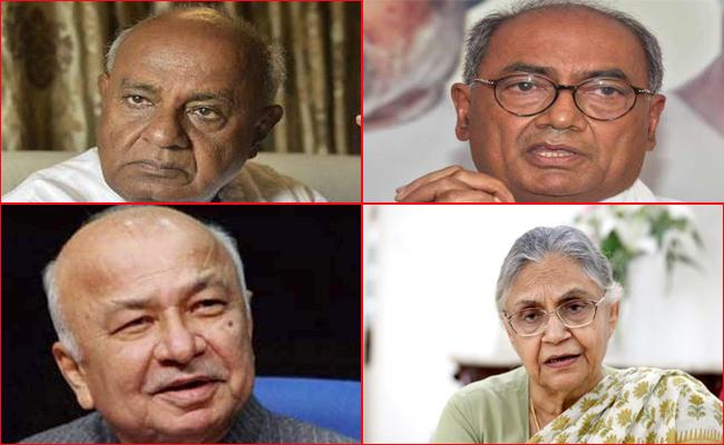 Nearly Dozen Former CMs Swept Away In Saffron Wave - Sakshi
