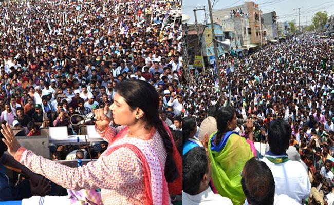 YS Vijayamma And Sharmila Campaign Helps To YSRCP Grand Victory - Sakshi