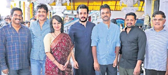 Akhil and Bommarillu Bhaskar film launched - Sakshi