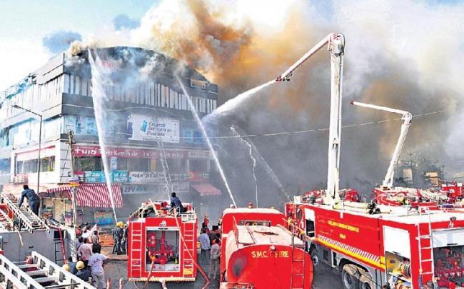 Surat Fire Kills 20 At Coaching Centre - Sakshi
