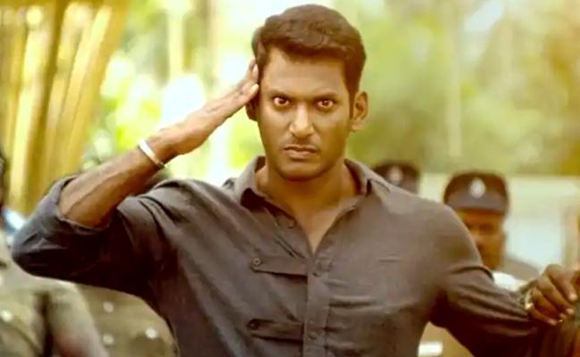 Vishal Ayogya Will Be Dubbed In Telugu - Sakshi