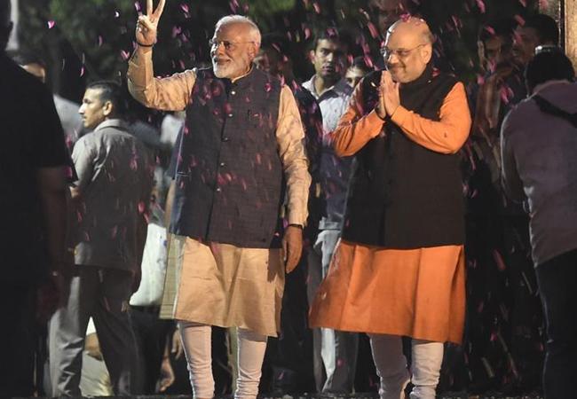 Narendra Modi Elected Leader Of NDA Coalition - Sakshi