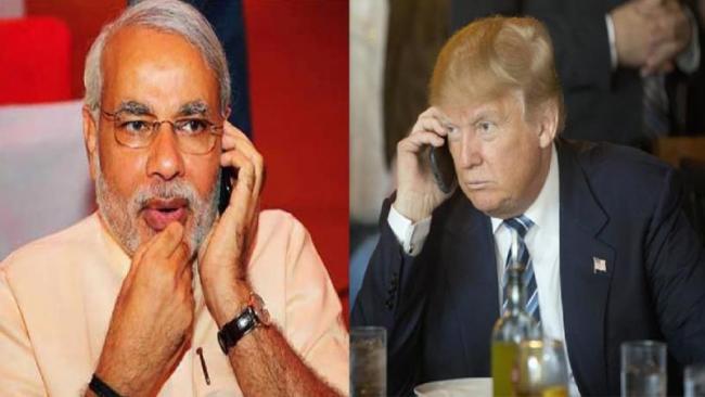Donald Trump Congratulates Narendra Modi - Sakshi