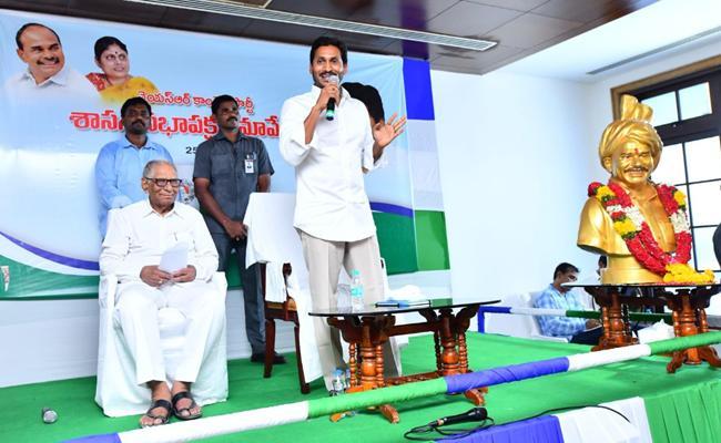 YS Jagan Speech After Elected As Party Legislative leder - Sakshi