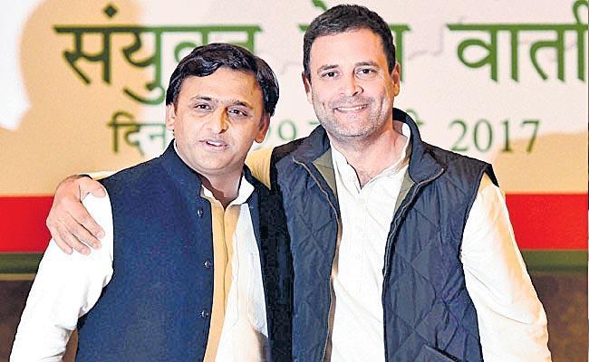 Mahagathbandhan in UP losing five seats because of Congress, one seat - Sakshi