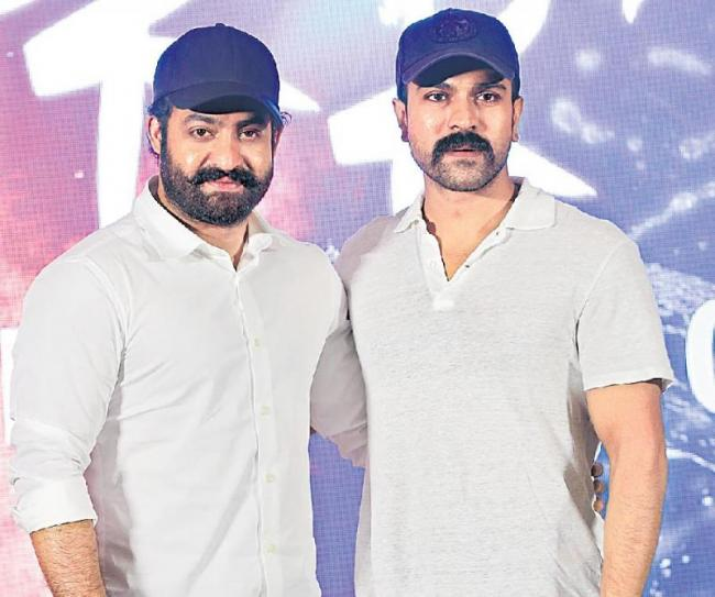 NTR and Charan to resume shoot for RRR - Sakshi
