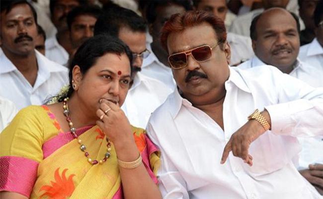DMK Leaders Slams On Vijayakanth And Sumalatha - Sakshi