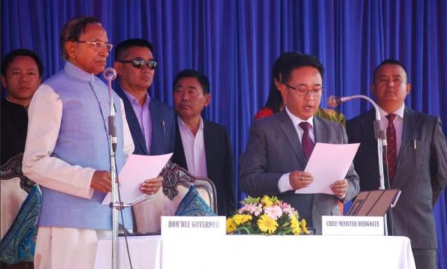 Prem Singh Tamang takes oath As New Sikkim Chief Minister - Sakshi