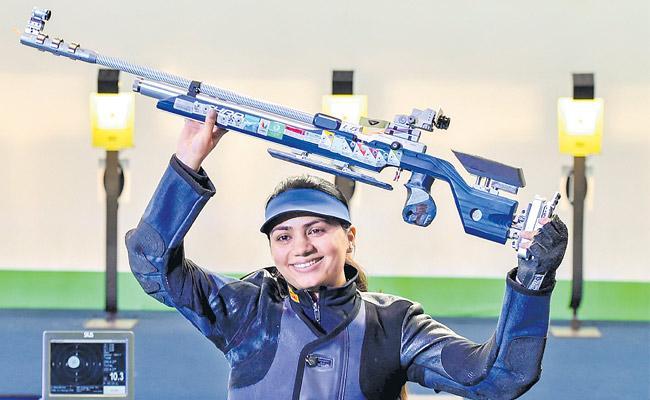 Apurvi Chandela bags 10m air rifle gold in ISSF World Cup - Sakshi