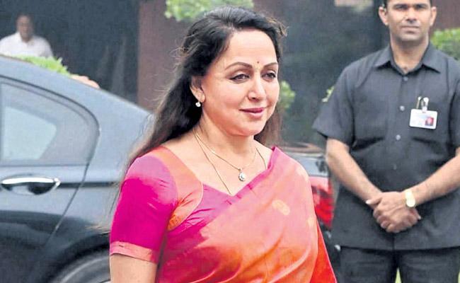 Hema Malini was elected from Mathura Lok Sabha seat in Uttar Pradesh once again - Sakshi