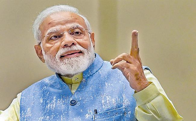 GDP Growth Rate Welcomes Modi Again - Sakshi