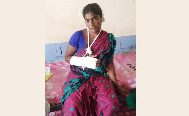 Husband Attack on Wife For Extra Dowry - Sakshi