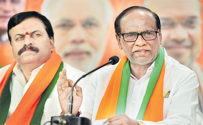 BJP Leader Laxman Comments On Congress - Sakshi