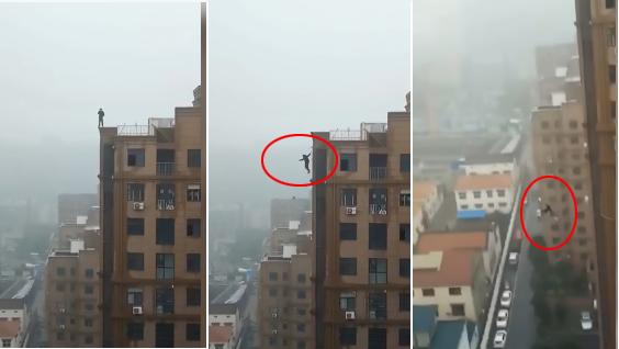 Teen Plunges 18 Floors in Central China - Sakshi