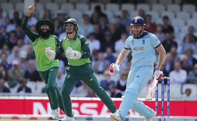 Tahir picks Bairstow in first over - Sakshi