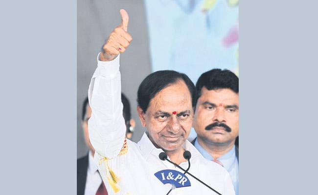 KCR at Jagans swearing in ceremony - Sakshi