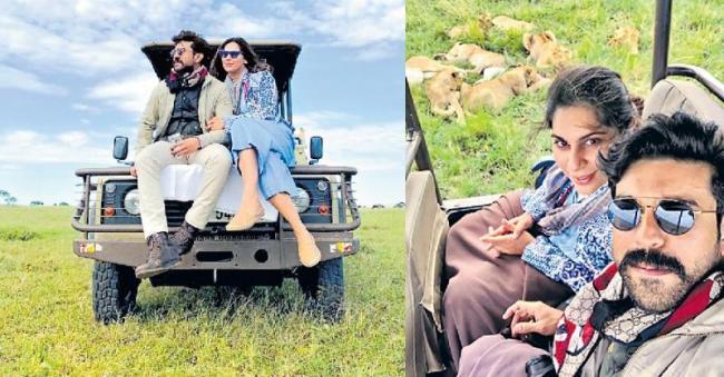 Ram Charan and Upasana are holidaying in South Africa - Sakshi