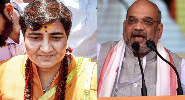 Amit Shah Claim Pragya Thakur In Malegaon Blasts Case Is False - Sakshi
