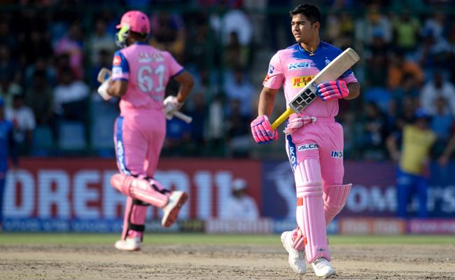 Parag propels Rajasthan Royals to 115 Against Delhi Capitals - Sakshi
