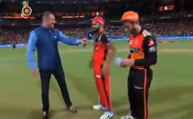 RCB Won The Toss And Elected Field First Against SRH - Sakshi