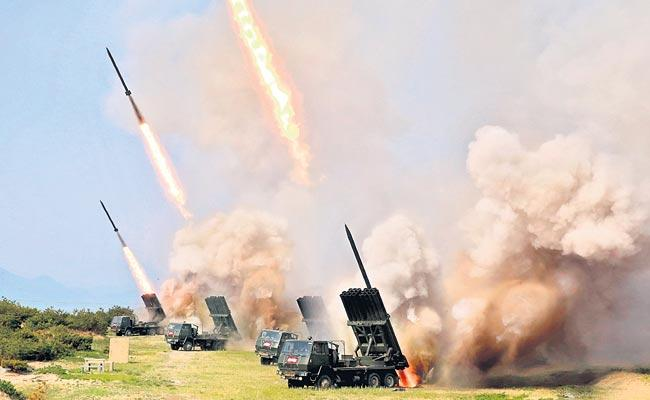 North Korea Tested Tactical Guided Weapons And Rocket Launchers - Sakshi