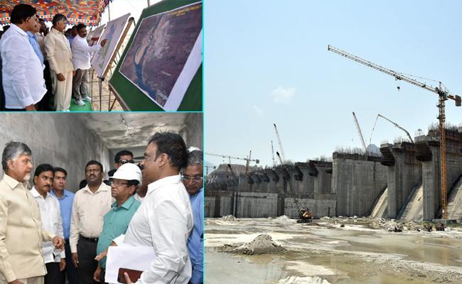 AP CM Nara Chandrababu Naidu Polavaram Tour Is Controversial - Sakshi