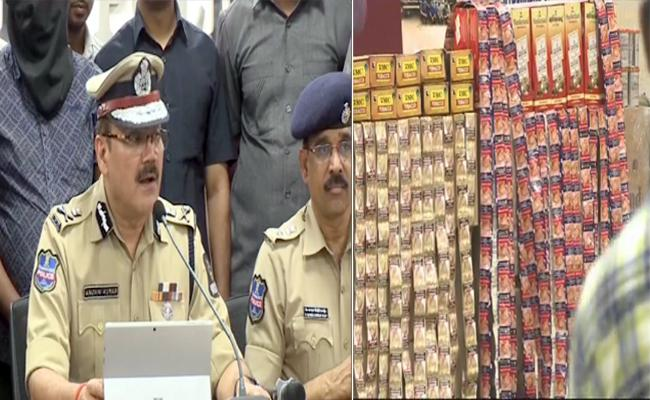 Hyderabad Police Arrest 4 Members For Illegally Transport Gutka - Sakshi