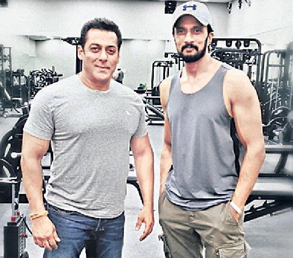 South Actor Sudeep Joins Salman Khan On Dabangg 3 Sets - Sakshi