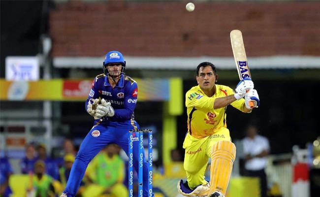 CSK Set Target of 132 Runs Against Mumbai - Sakshi
