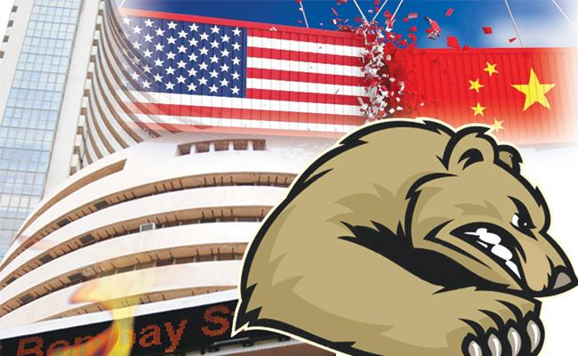Sensex tanks 363 pts: Trump's comments & other factors that weighed on stocks - Sakshi